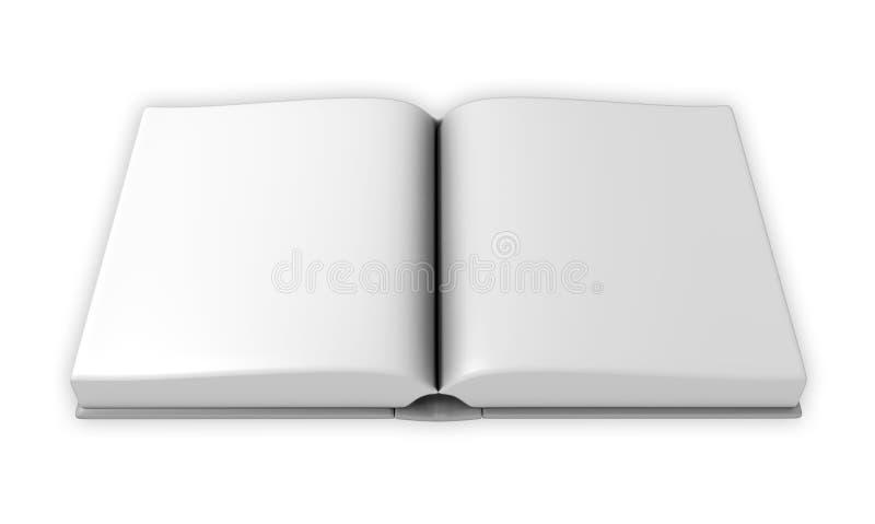 开放空白的书 库存例证