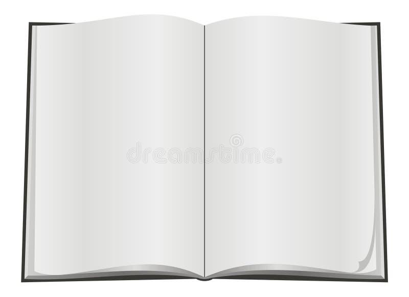 开放空白的书 向量例证