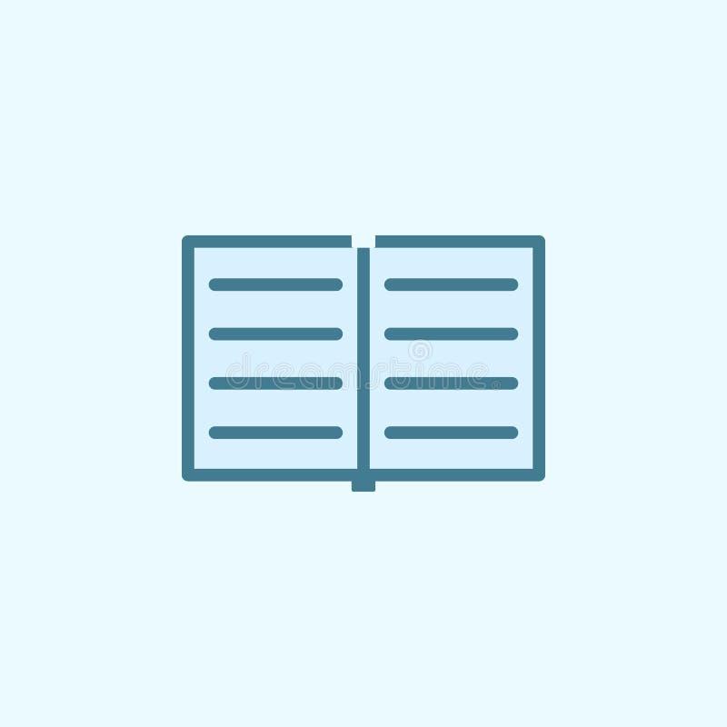 开放笔记本领域概述象 2种颜色简单的象的元素 网站设计和发展的, app稀薄的线象 库存例证