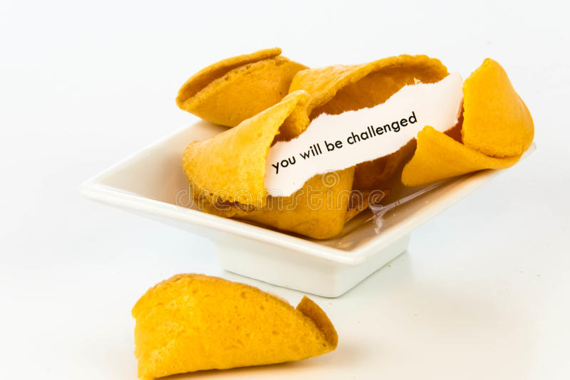 开放签饼-您将挑战 免版税库存图片