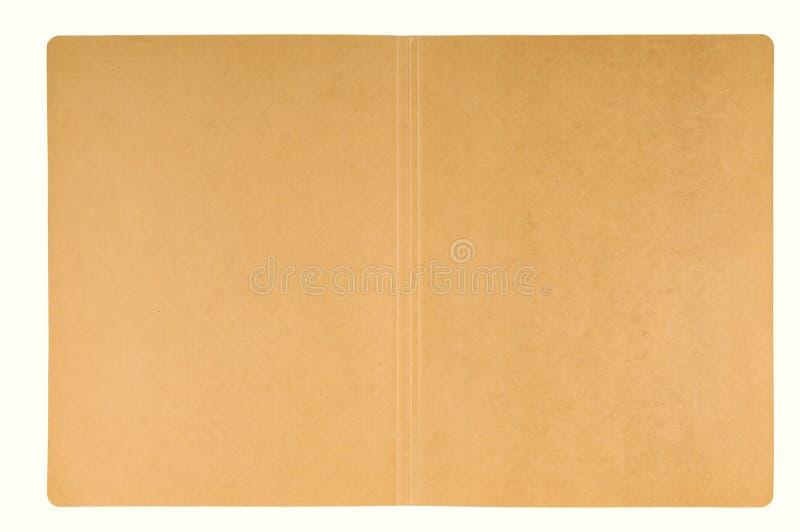 开放纸盒的文件夹 免版税图库摄影
