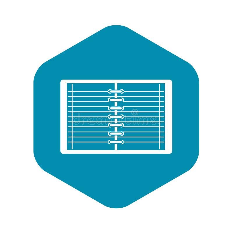开放螺旋简单被排行的笔记本的象 向量例证