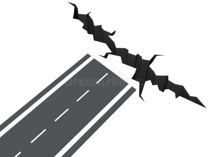 开放路。路的末端 库存例证