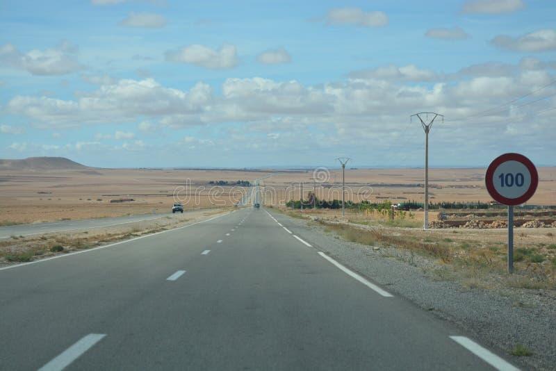 开放路,摩洛哥 库存图片