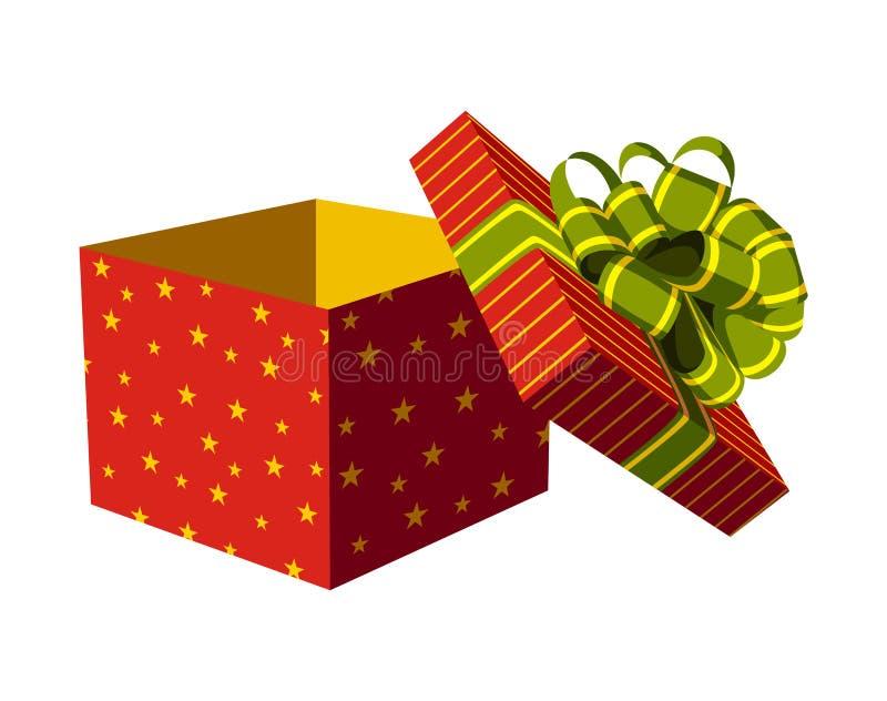 开放配件箱的礼品 库存例证