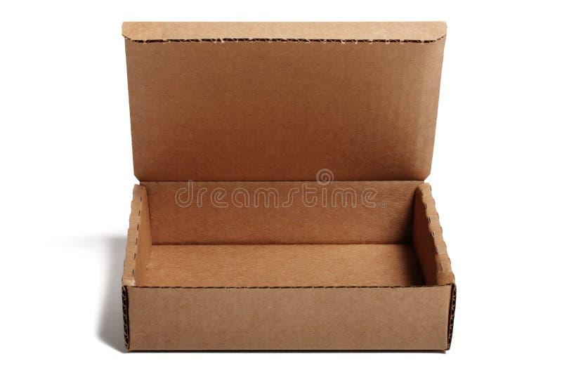 开放配件箱的纸板 免版税库存照片