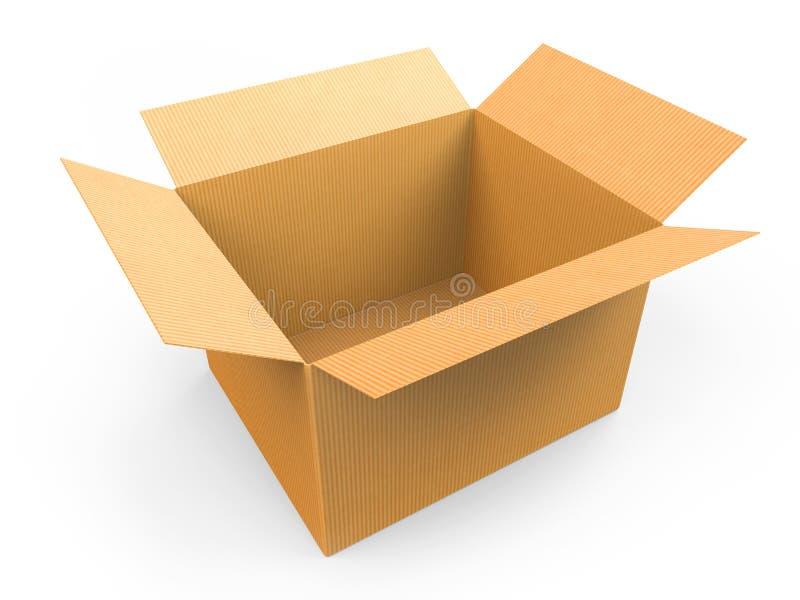 开放配件箱的纸板 皇族释放例证