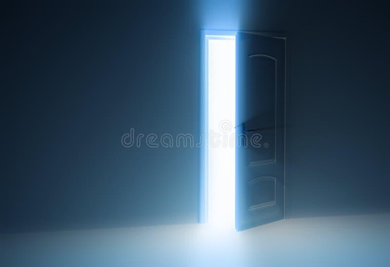 开放门的一半 皇族释放例证