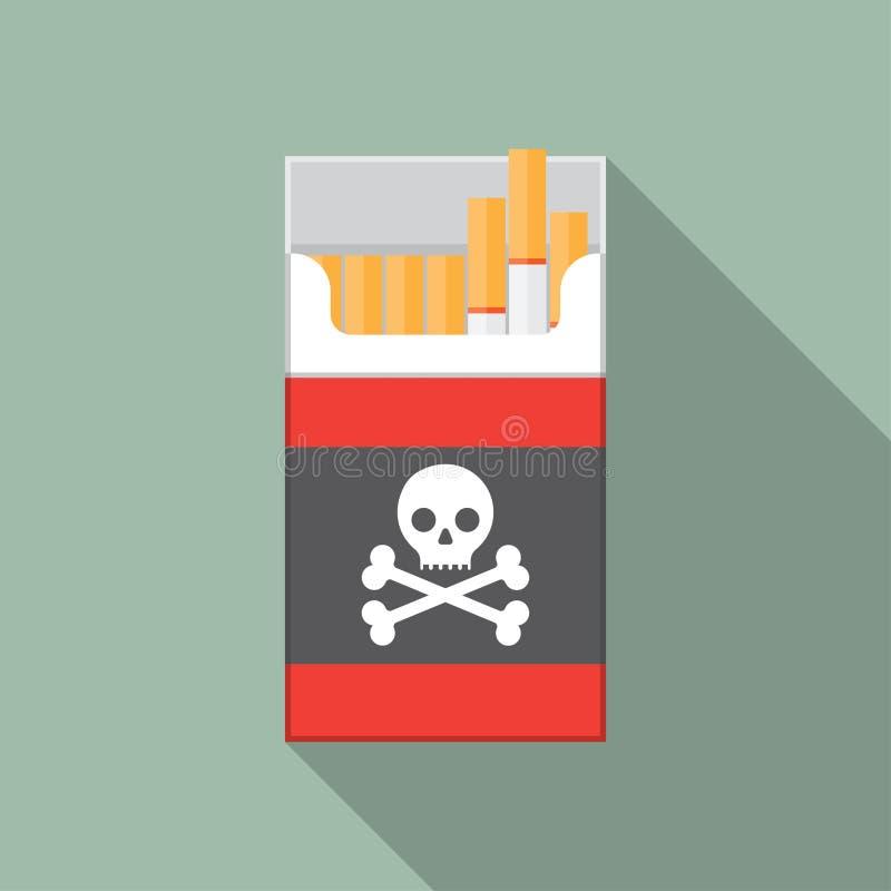 开放香烟组装箱子 库存例证