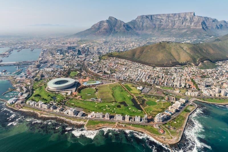 开普敦、南非& x28; 空中view& x29; 库存照片