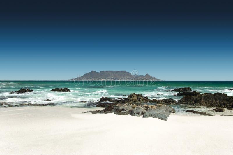 开普敦,南非地平线  免版税图库摄影