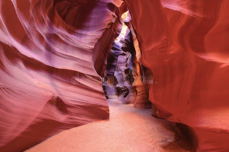 开槽峡谷,羚羊谷,页,亚利桑那 免版税库存照片