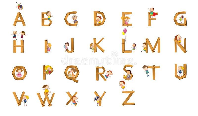 开玩笑字母表 向量例证