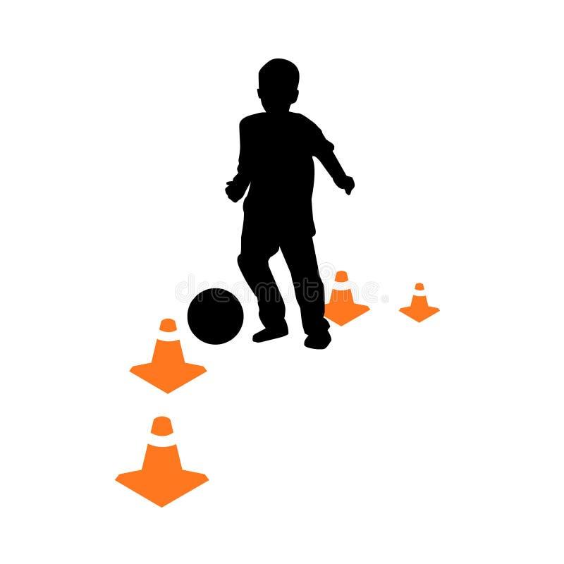 开玩笑学校足球向量 向量例证