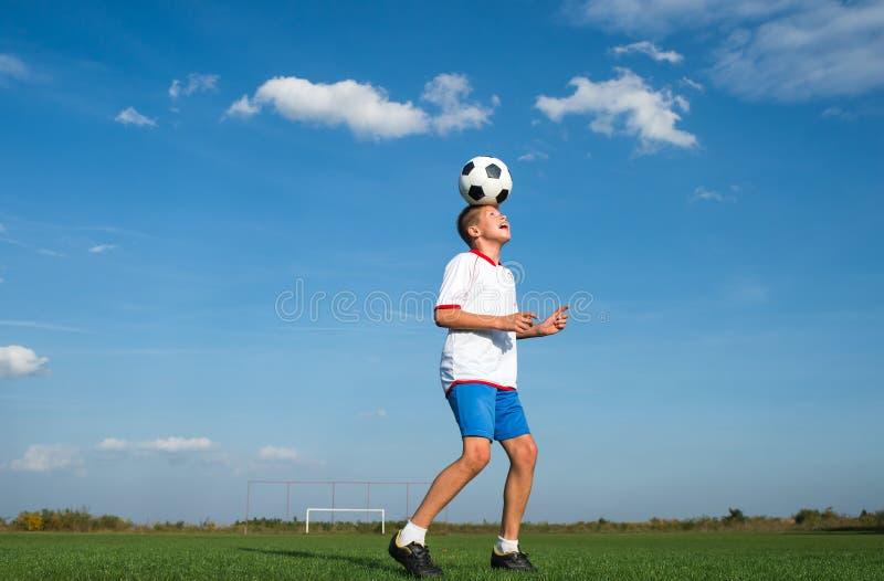 开玩笑足球 库存照片