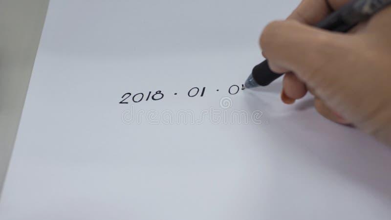 开球新年2018年 免版税库存照片