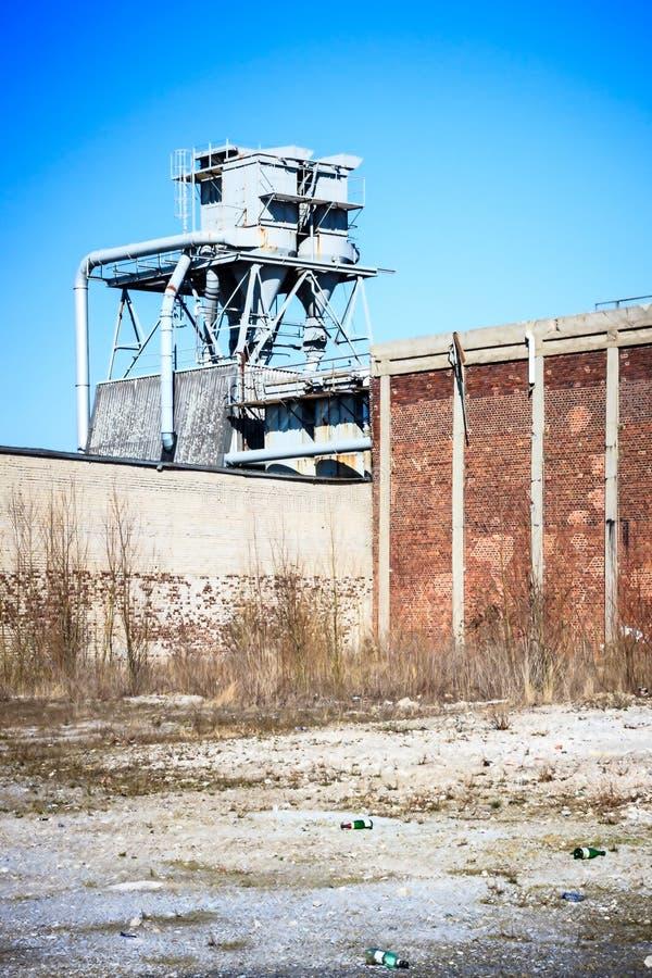 离开的工厂 免版税库存照片