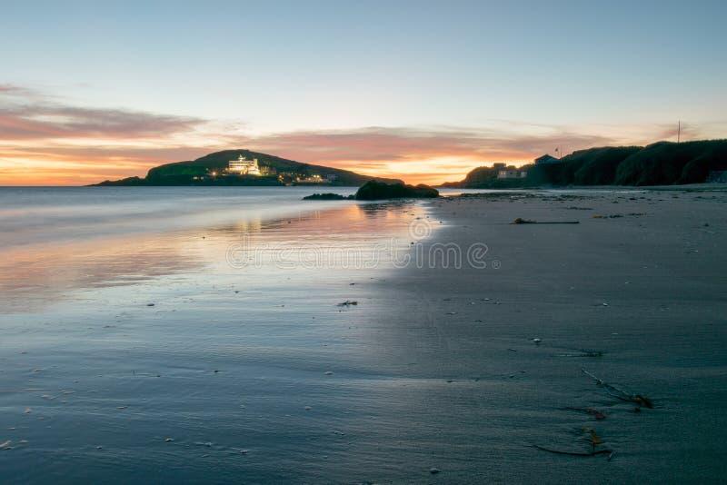 离开的海滩 库存照片
