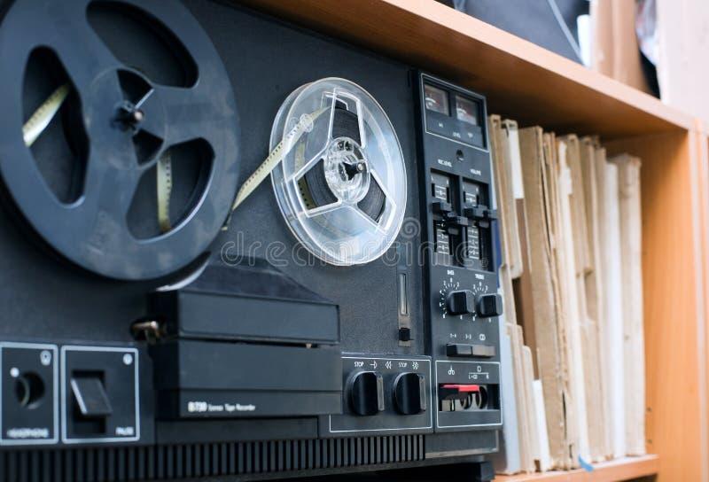 开盘式的录音机 库存照片
