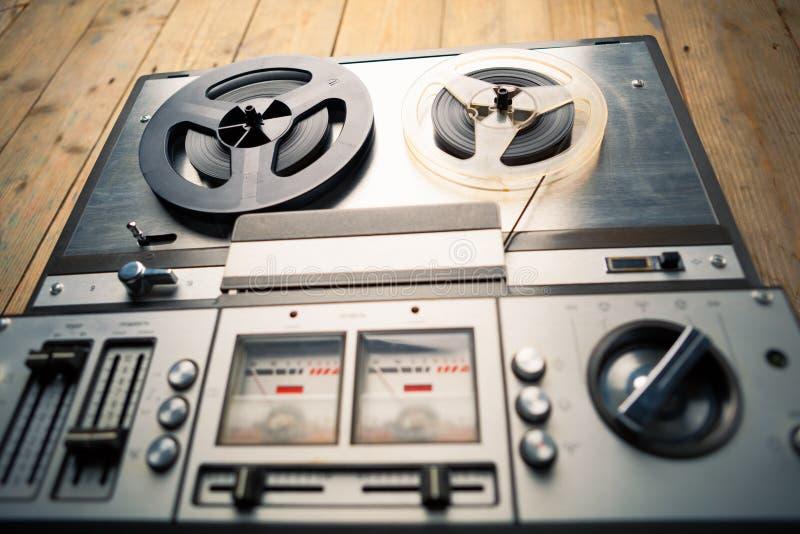 开盘式的录音磁带播放机和记录器 免版税库存照片