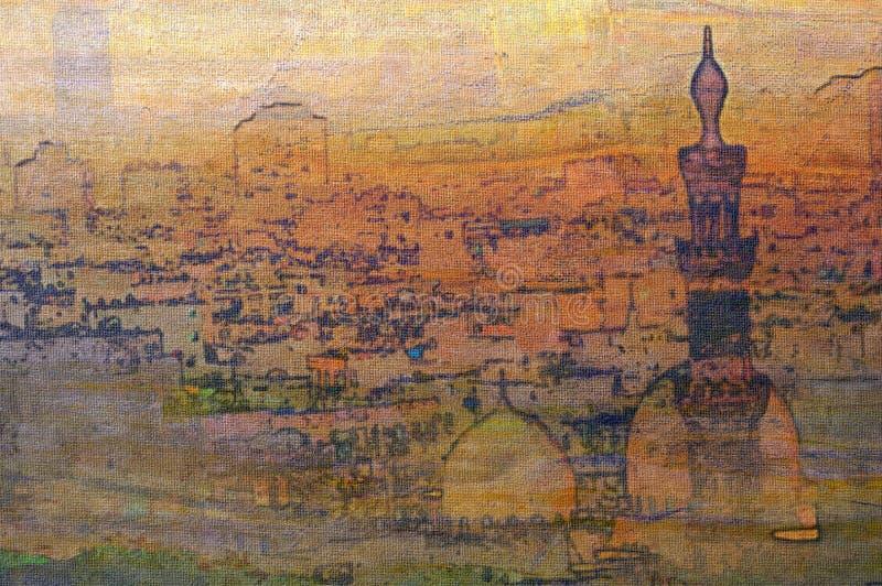 开罗埃及伊斯兰石油老绘画季度