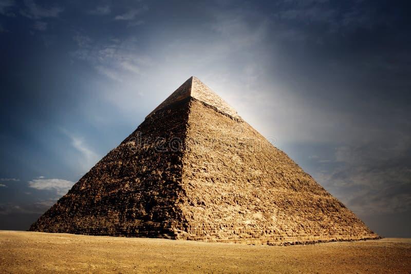 开罗埃及吉萨棉金字塔 免版税库存照片