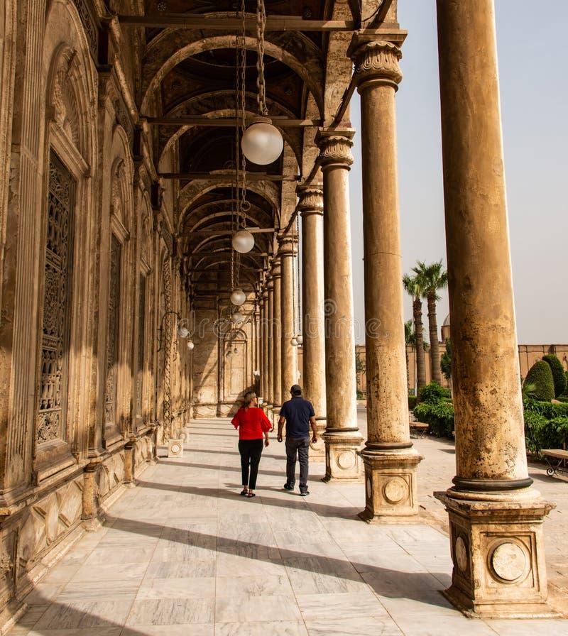 开罗,埃及伟大的穆罕默德・阿里雪花石膏清真寺城堡  免版税库存照片