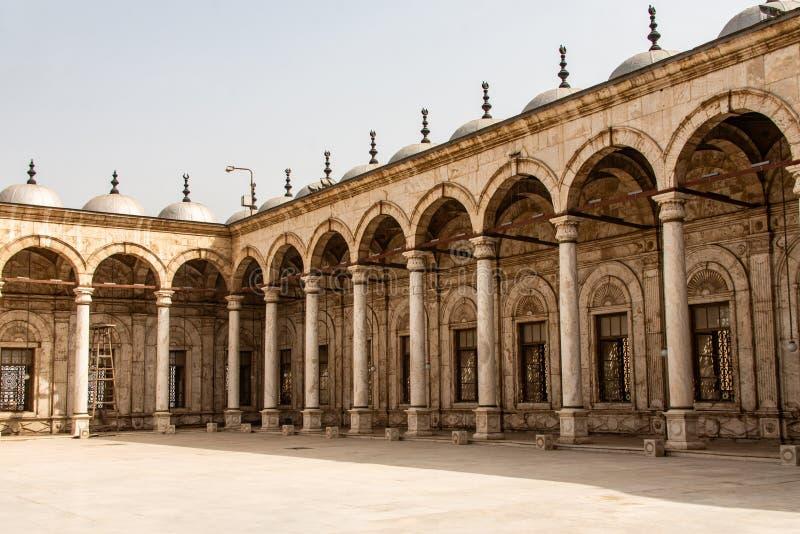 开罗,埃及伟大的穆罕默德・阿里雪花石膏清真寺城堡  库存照片