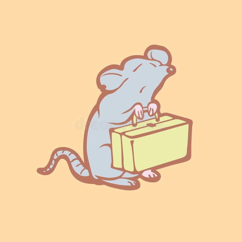 离开老鼠的例证在家 害虫控制概念 向量例证