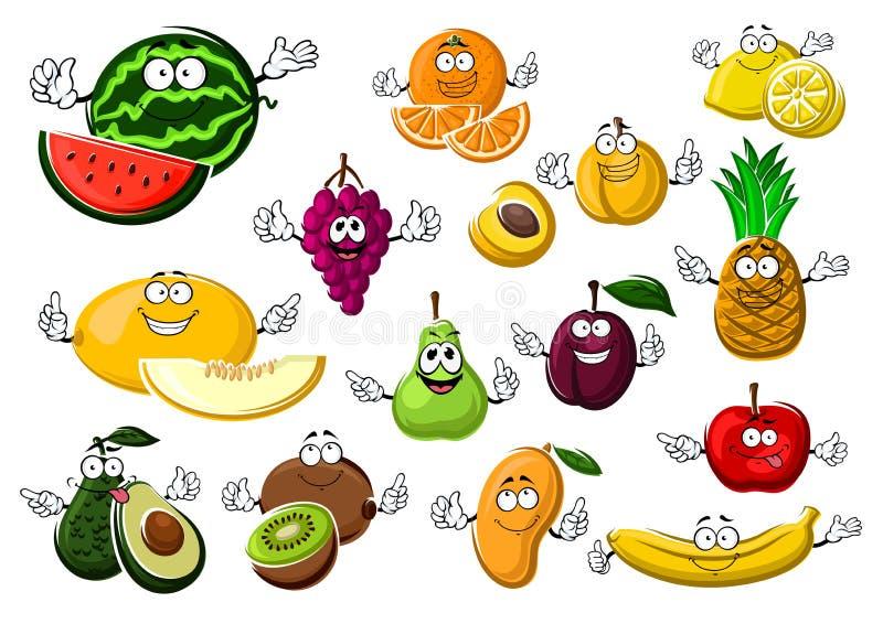 开胃成熟热带和庭院果子 库存例证