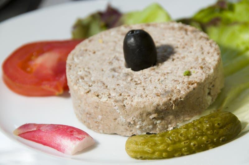 开胃菜可西嘉岛食物法国陶罐 免版税库存照片