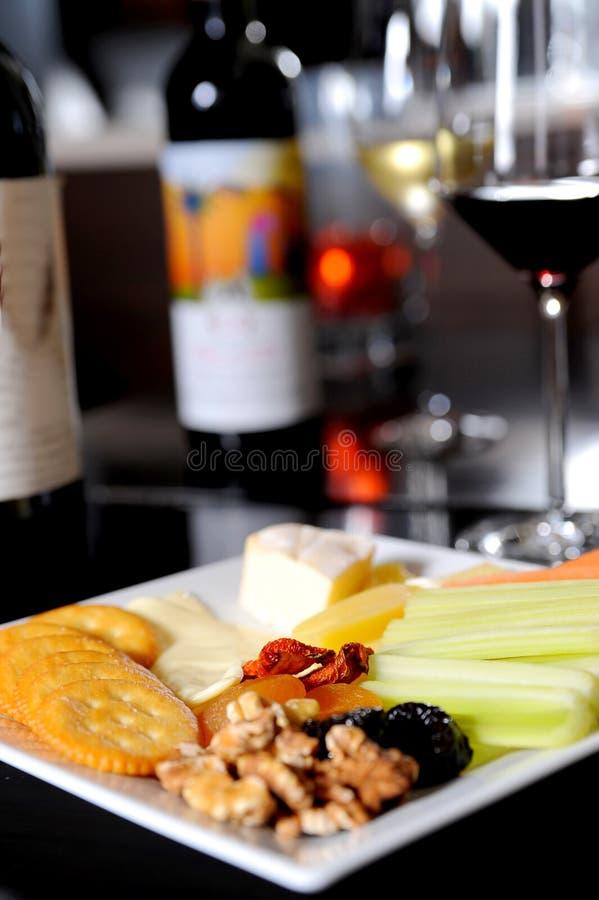 开胃菜和酒 免版税库存图片