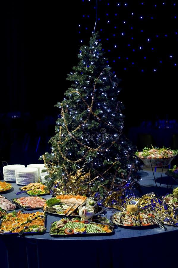开胃菜圣诞节显示 免版税库存图片