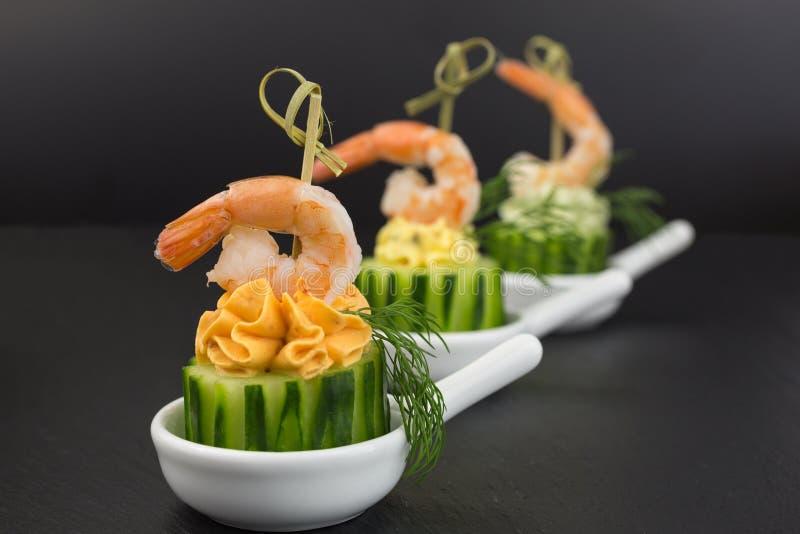 开胃菜用大虾 图库摄影