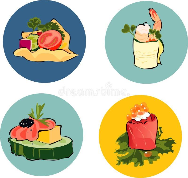 开胃菜 向量例证