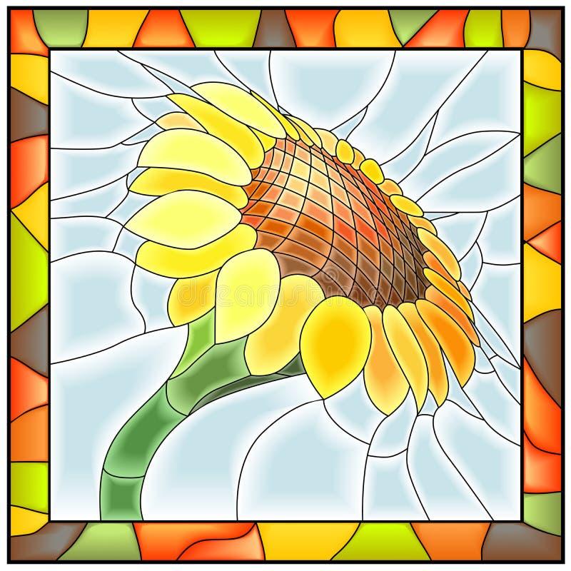 开花例证向日葵向量 皇族释放例证