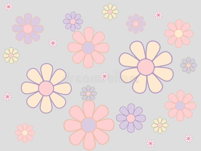 开花无缝淡色的模式 库存照片