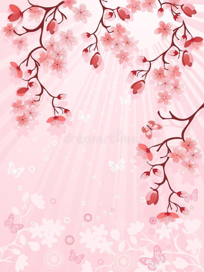 开花樱桃日语 皇族释放例证