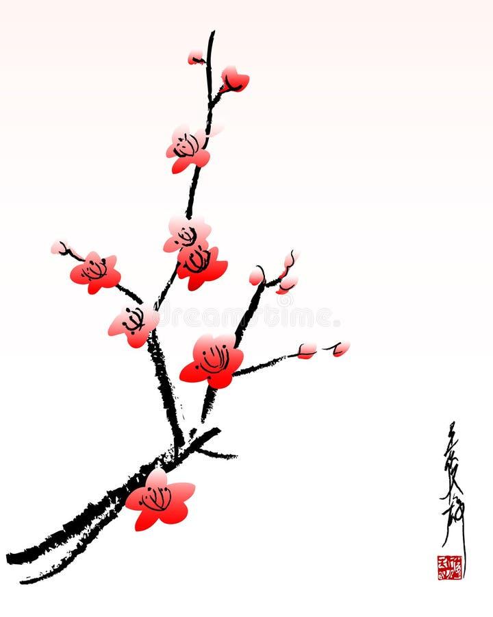 开花樱桃 库存例证