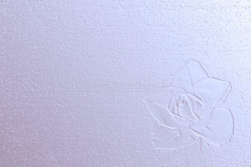 开花的图象上升了在淡色的压印的珍珠表面上 图库摄影
