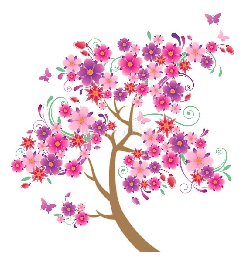 开花的树 皇族释放例证