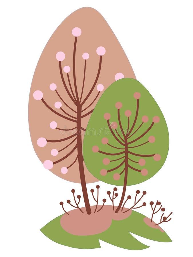 开花的樱桃和杏子 免版税库存图片