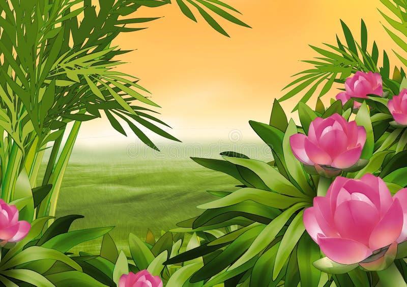 开花的灌木 向量例证