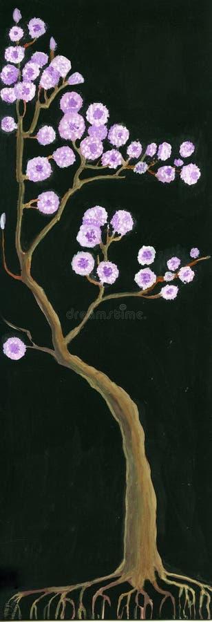 开花的结构树 向量例证