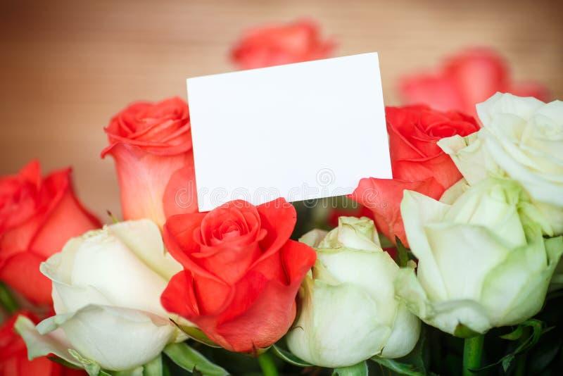 开花的花束玫瑰 库存照片