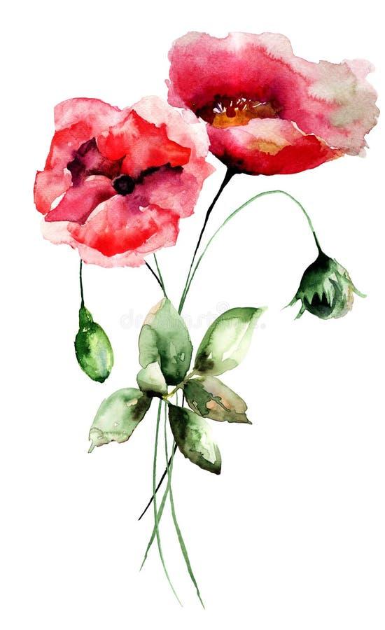 开花被传统化的鸦片 皇族释放例证