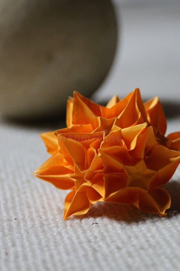开花origami 免版税库存照片