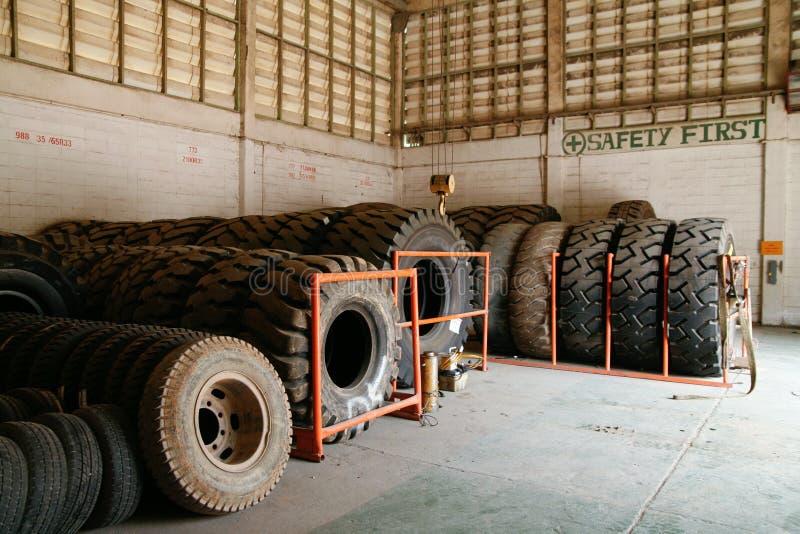 开采的轮胎 库存照片