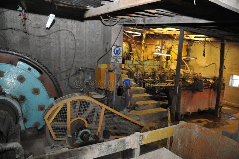 开采-浓缩工厂在波托西 库存图片