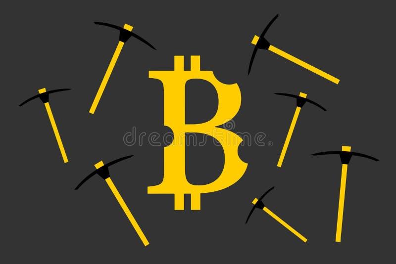 开采bitcoin 皇族释放例证